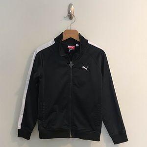Puma Boys Black & White Track Jacket Zip Up S 7
